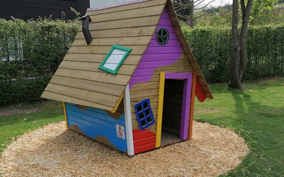 Neues Spielhaus Kindergarten Arche